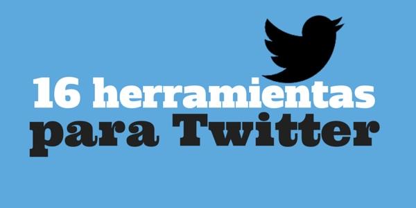 16 herramientas para Twitter